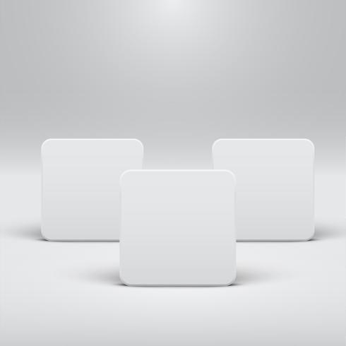 Modèle blanc pour des sites Web ou des produits, illustration vectorielle réaliste vecteur
