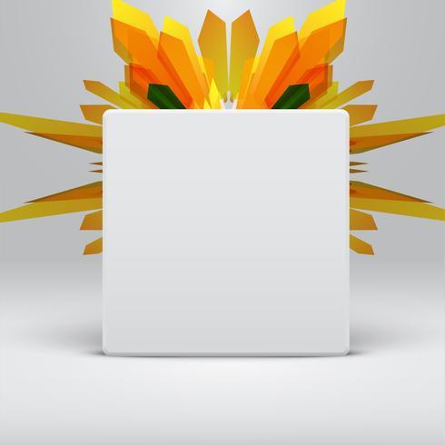 Modèle abstrait blanc avec fond de flèches jaunes, vector