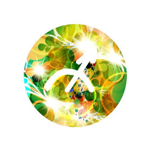 Un signe du zodiaque de sagittaire, illustration vectorielle vecteur