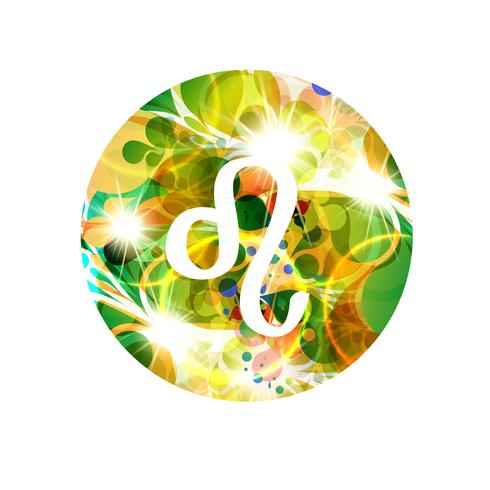 Un signe du zodiaque de Lion, illustration vectorielle vecteur