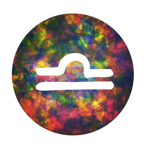Un signe du zodiaque de la balance, illustration vectorielle vecteur