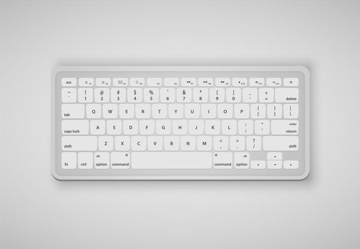 Des lettres sur le clavier forment un mot, illustration vectorielle vecteur