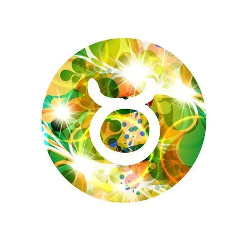 Un signe du zodiaque du taureau, illustration vectorielle vecteur