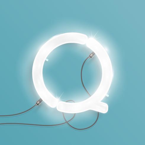 Personnage réaliste néon d'un ensemble, illustration vectorielle vecteur