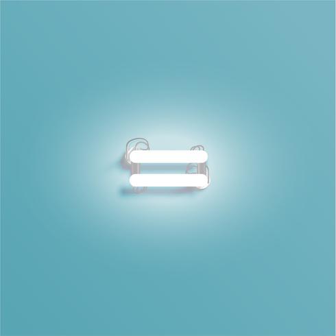 Personnage réaliste néon d'un jeu de polices, illustration vectorielle vecteur