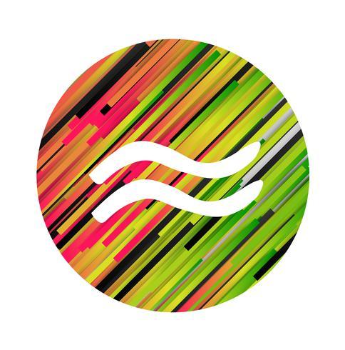 Un signe du zodiaque de l'aquarius, illustration vectorielle vecteur