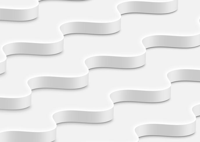 Vagues blanches abstraites hautement détaillées, illustration vectorielle vecteur