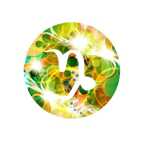 Un signe du zodiaque du capricorne, illustration vectorielle vecteur