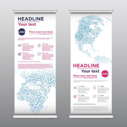 Flyer de conception de rollup coloré, illustration vectorielle vecteur