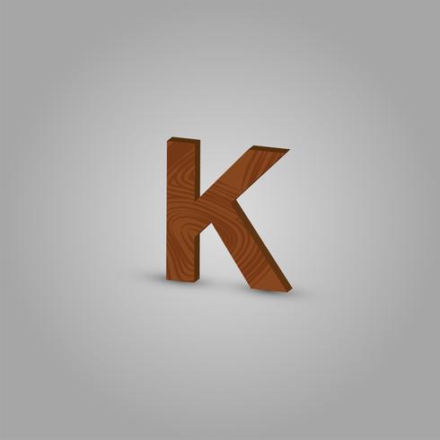 Caractère de bois réaliste d'un typographe, illustration vectorielle vecteur