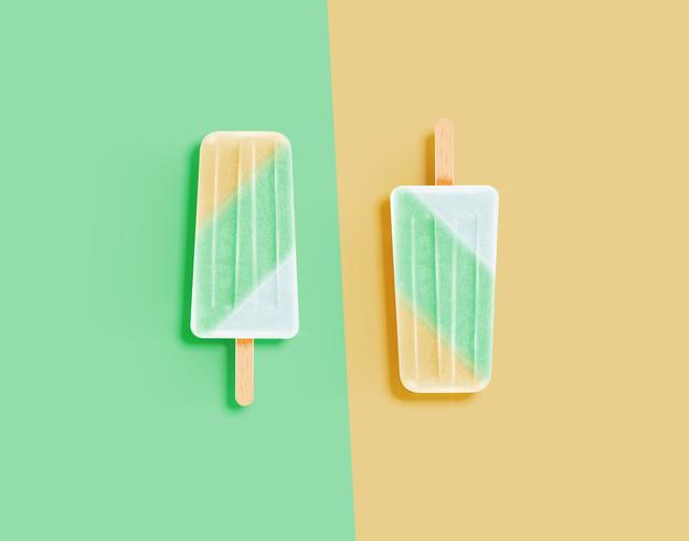Crème glacée réaliste et pastel vecteur