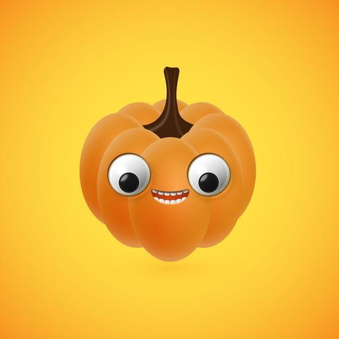 Drôle de citrouille d'halloween pour les enfants, illustration vectorielle vecteur