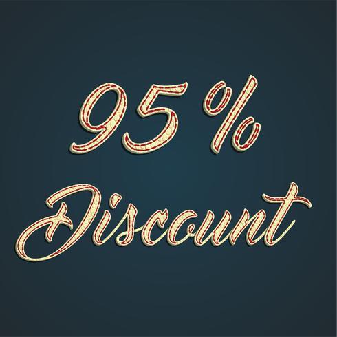 Signe de cuir «discount», illustration vectorielle vecteur