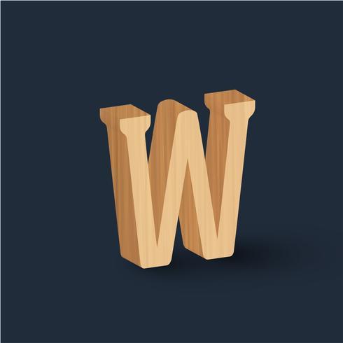 Caractère de bois 3D, vector