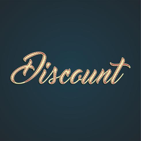 Étiquette de vente «discount» en cuir, illustration vectorielle vecteur