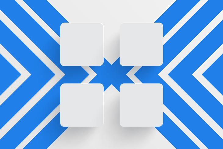 Modèle propre pour la publicité avec des flèches bleues, illustration vectorielle vecteur