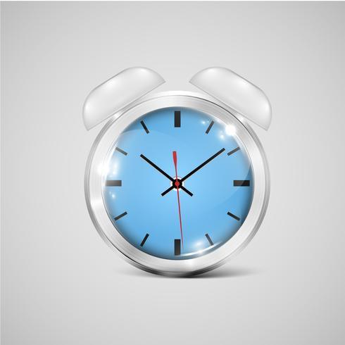 Une icône d'horloge réaliste, vector