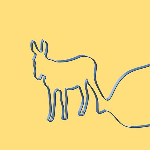 Ruban réaliste façonne un animal, illustration vectorielle vecteur