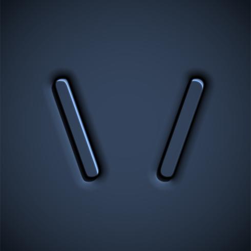 Caractère de police pressée, illustration vectorielle vecteur