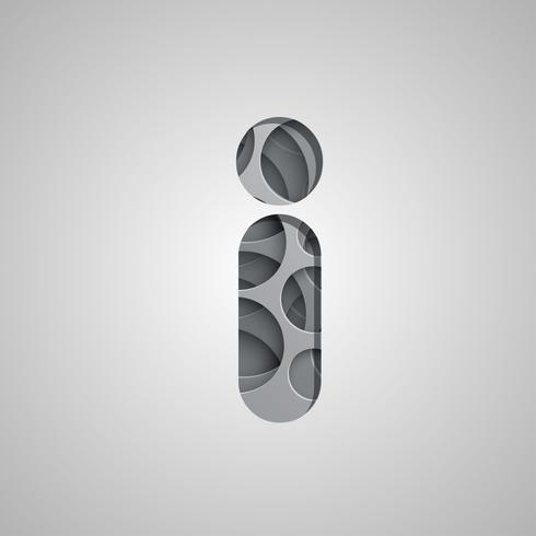 Caractère 'trou' en couches d'un jeu de polices, vecteur