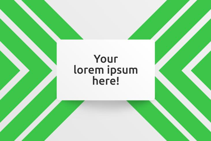 Modèle propre pour la publicité avec des flèches vertes, illustration vectorielle vecteur