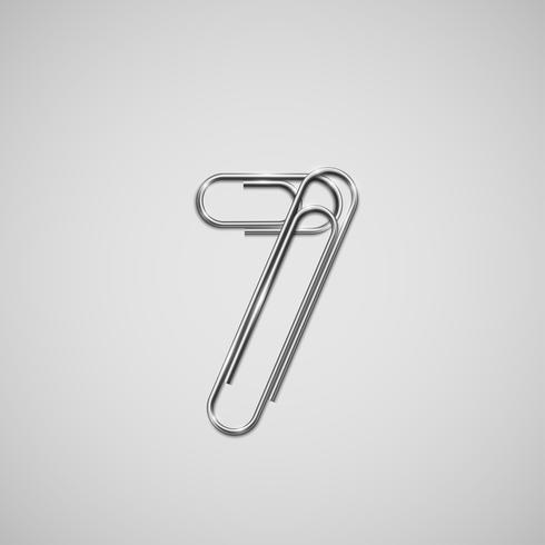 Trombones liés formant un caractère, un vecteur