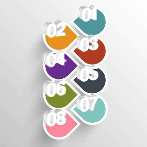 Illustration de papier abstrait numéroté infographique vecteur