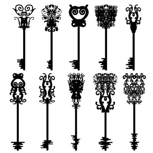 Dix clés différentes, vectorielles vecteur
