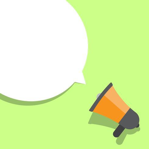 Illustration vectorielle mégaphone vecteur