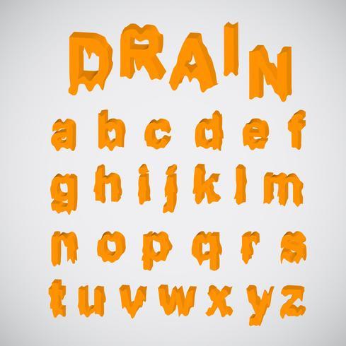 Fonte des caractères orange, vector