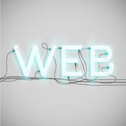 Type de mot électrique néon, illustration vectorielle vecteur