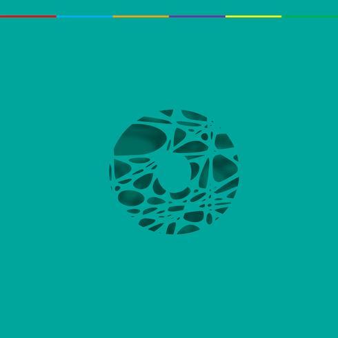 Caractère de découpe d'un jeu de polices, vecteur