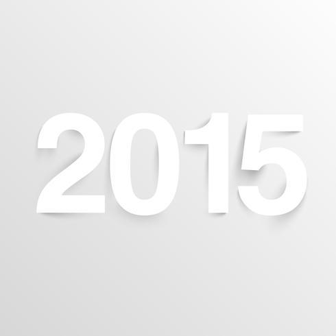 Nouvel An 2015 en papier, vecteur