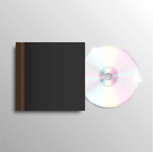 Boîtier CD brun, vecteur