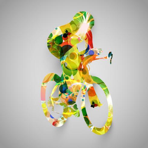 Illustration vectorielle biker coloré vecteur