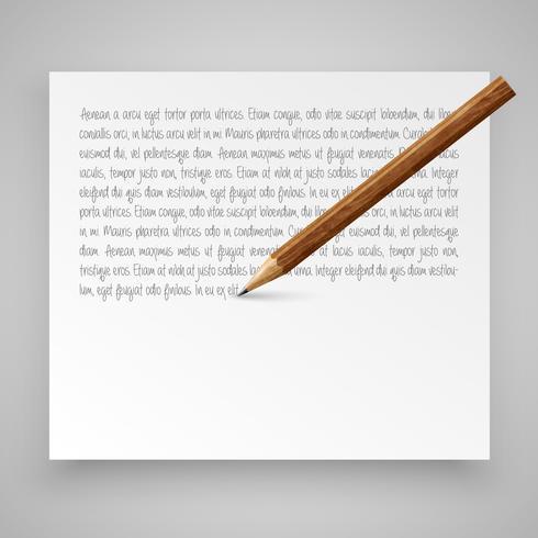 Modèle avec des crayons réalistes vecteur