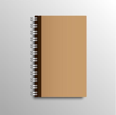 Cahier réaliste, illustration vectorielle vecteur