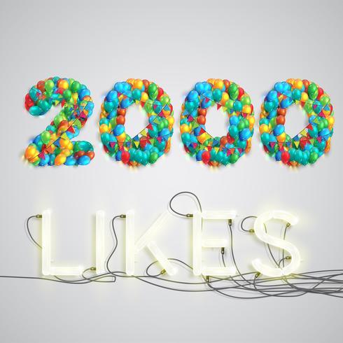 Nombre de goûts créés par ballon, illustration vectorielle vecteur