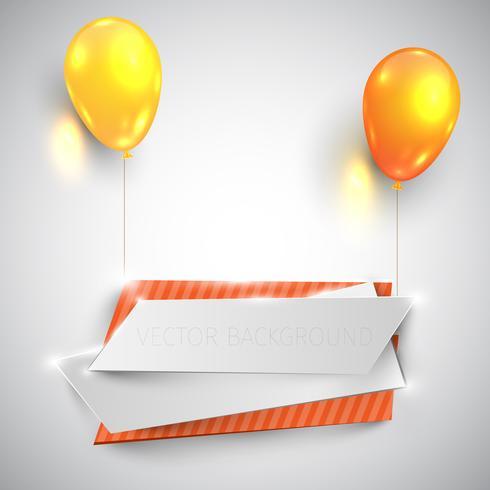 Ballons brillants de couleur soulèvent des étiquettes, vector