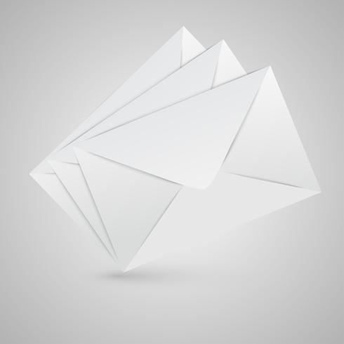 Enveloppes fermées réalistes, illustration vectorielle vecteur