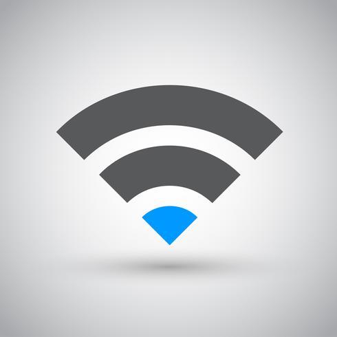 Réseau Wifi, icône de la zone Internet vecteur