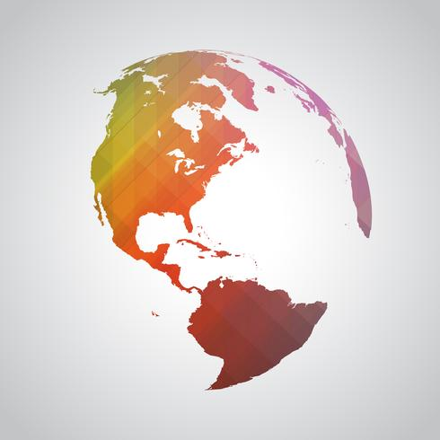 Symbole du monde abstrait coloré vecteur
