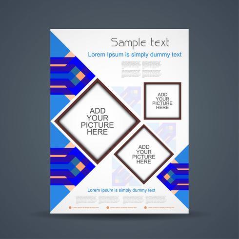Modèle de brochure d'entreprise abstraite vecteur