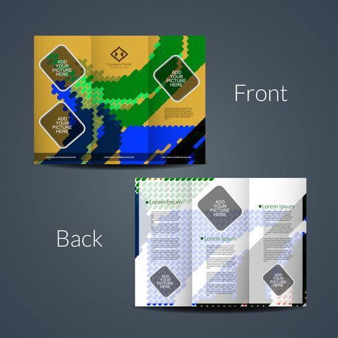 Modèle de brochure d'entreprise abstrait tri pli vecteur