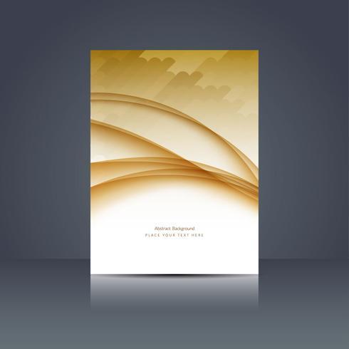 Modèle de brochure d'entreprise moderne vecteur