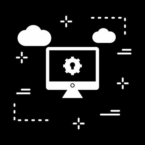 icône de réglage lcd vecteur