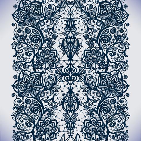 Abstrait motif de dentelle transparente avec des fleurs vecteur