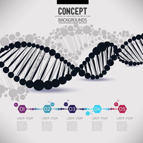 ADN de réseau abstrait géométrique noir vecteur