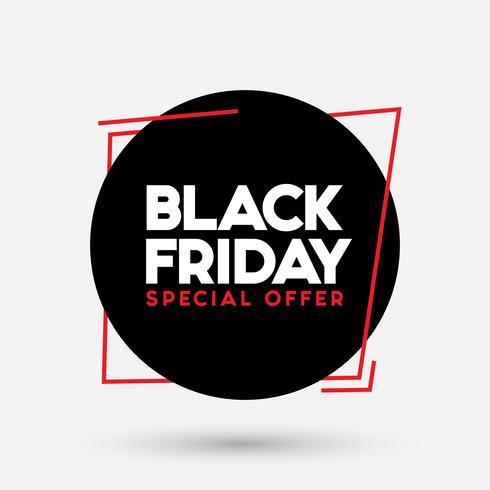 Illustration vectorielle de vente vendredi noir vecteur