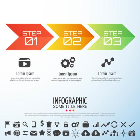 Modèle de conception infographie flèche vecteur